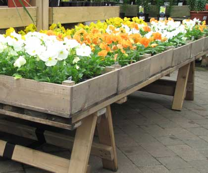 Chunky Trestles Flexible Tables For Garden Centres Interior And Exteriors House Plant Display